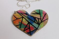 Small Things: Stained Glass Heart Pendant
