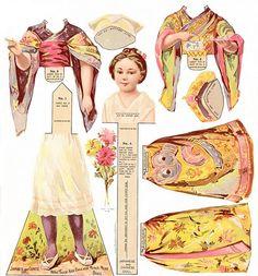 Paper Doll in Japanese Kimono by Gatochy, via Flickr