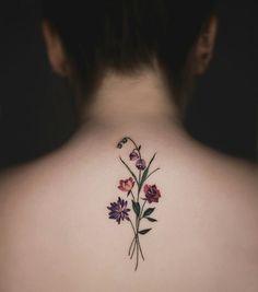 Makeup, Beauty, Hair & Skin | 28 Gorgeous Wildflower Tattoos For Free Spirits | POPSUGAR Beauty