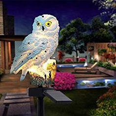 Garden Solar Lights Owl Shape Waterproof LED Solar Garden LightsGGarten Embellish for Lawn Way Courtyard Entrance Step and Walkway Wedding Party u. Best Outdoor Solar Lights, Outdoor Lighting, Decorative Solar Garden Lights, Small Solar Panels, Recessed Lighting Fixtures, Circular Patio, Brick Walkway, Hawaiian Tiki, Led