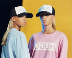Which color is for you? Lisa and Lena wear the HUGO Reversed in new-season pink and blue