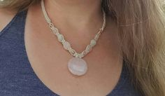 Check out this item in my Etsy shop https://www.etsy.com/listing/467257535/hemp-necklace-rose-quartz-moonstone