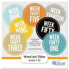 Freebie Seafoam coordinating week numbers
