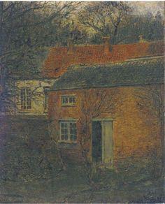 poboh:Het hoveniershuis, Xavier Mellery. Belgian (1845 - 1921)