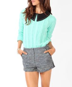 Cable Knit Raglan Sweater | FOREVER21 - 2030186608