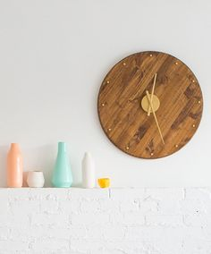 Put together a mid-century modern clock for a friend with retro taste.
