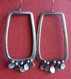 Fringed Rectangle Earrings by robindalmirasjewelry, via Flickr