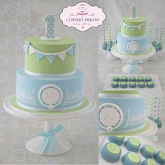 Vintage Boy's 1st Birthday - by cjsweettreats @ CakesDecor.com - cake decorating website
