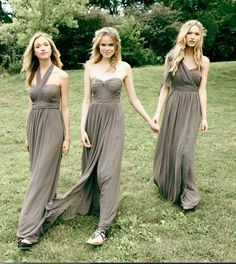 10 Pretty Perfect Convertible Bridesmaid Dresses #wedding #style #bridesmaid