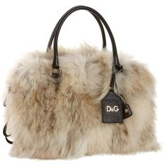 D&G Dolce & Gabbana Three-Zip Lily Twist Satchel ($1,219) ❤ liked on Polyvore featuring bags, handbags, bolsas, borse, purses, d&g purses, fur purse, brown handbags, fur handbag and brown purse