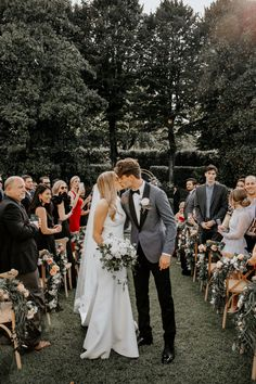Intimate with a garden feel, this dreamy destination wedding was one for the boo. Wedding Tux, Wedding Attire, Dream Wedding, Gray Tuxedo Wedding, Groom Attire, Groom And Groomsmen, Bride Groom, Groomsmen Tuxedos, Groom Tuxedo