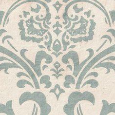 Quatrine Custom Furniture - Patricia - Blue on Natural Canvas