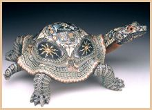 Polymer Clay Art Animal Sculpture - Turtle - Jon Anderson is amazing!