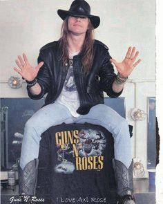 I was positive when I was like 12 that I was going to move to LA and marry Axl Rose or Sebastian Bach.