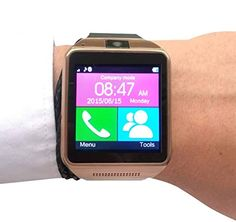 Smartwatch for the Cool Gadget Geek! Touch Screen Wrist Watch By HolTins. Pair with Android, Smartphone, Ios Iphone (Partial Functions). Full Money Back Guarantee! Enhance Your Whole Mobile Phone Experience Now! Latest Technology Gadgets, Cool Technology, Geek Gadgets, Cool Gadgets, Best Watches For Men, Cool Watches, New Inventions, Android Smartphone, Marketing News