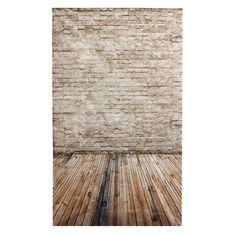 3x5ft 90x150cm Vinyl Cream Coloured Wooden Floor Brick Studio Prop Photography Backdrop - I like this one!