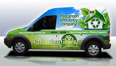 award winning car wrap, truck wrap, auto wrap for home efficiency company car wrap example