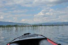 Erste Kanu Tour auf dem Ohridsee bei Struga