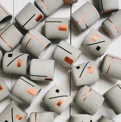 Concrete Crafts, Concrete Art, Concrete Planters, Candle Wax, Soy Wax Candles, Yankee Candles, Diy Luminaire, Mini Vasos, Beton Diy