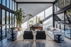 Photo 5 of 11 in A Glass Addition Lends Loft-Style Living to a Traditional Australian Cottage - Dwell Living Room Designs, Living Spaces, Loft Style Apartments, Upstairs Bedroom, Timber Flooring, Open Plan Living, Home And Family, Family Room, Minimalist