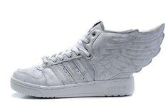 61b1747bc7b Adidas Jeremy Scott Wings Shoes Grey White Adidas Jeremy Scott Wings