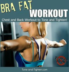 How To Get Rid Of Bra Fat – At Home Workout