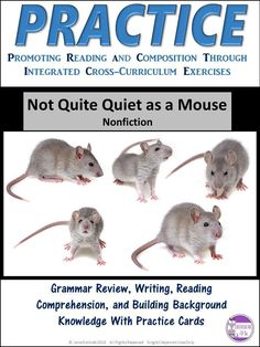 Revise and Edit Not Quite Quiet As A Mouse Task Cards Activity Reading Comprehension Strategies, Reading Resources, Reading Skills, Teaching Reading, Teaching Tips, Grammar Practice, Grammar Skills, Grammar And Punctuation, Middle School Reading