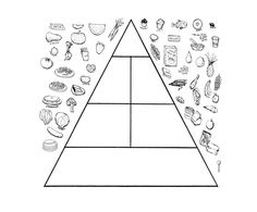 The Food Pyramid Is Interesting Coloring Page For Kids