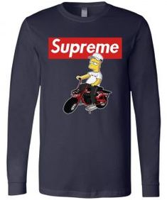 Bart Simpson Supreme Long Sleeve - UnicornAZ - Fortnite, Sport, Trending apparel Bella Canvas, Bart Simpson, Supreme, Hoodies, Long Sleeve, Sleeves, Cotton, Mens Tops, T Shirt