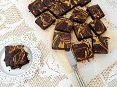Brownies de chocolate negro e manteiga de amendoim