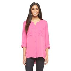 Button Down Blouse - Mossimo