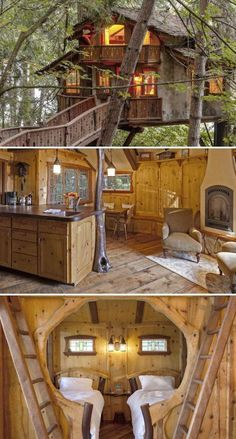 fairytale treehouse with the charm of a Swiss chalet Step inside this fairytale treehouse that's a world away from the hustle and bustle of urban life.Step inside this fairytale treehouse that's a world away from the hustle and bustle of urban life. Chalet Design, Cabin Design, Future House, Cool Tree Houses, Amazing Tree House, Awesome Tree Houses, Beautiful Tree Houses, Luxury Tree Houses, House Beautiful