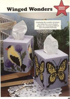 Winged Wonders Tissue Boxes 1/2