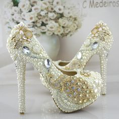 105.00$  Buy here - http://ali640.worldwells.pw/go.php?t=32704902481 - Luxury ivory platforms wedding shoes pumps for woman extra high TG386 14cm heels bridal ladies parties dress pumps shoes 105.00$