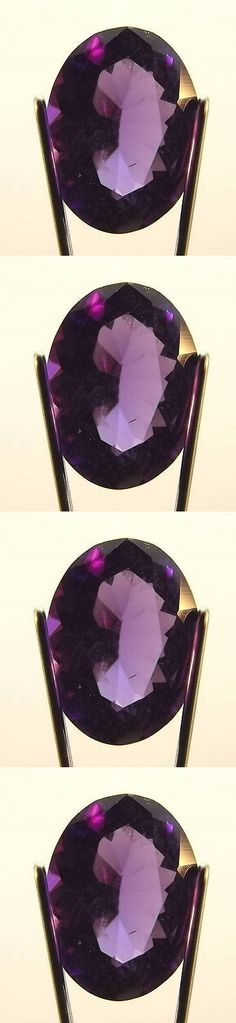 Amethyst 10192: 1.06 Ct Oval Shaped Siberian Amethyst Loose Natural Faceted Gemstone (Ame1-20) -> BUY IT NOW ONLY: $43 on eBay!