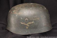 Nazi German M38 Fallschirmjager Paratrooper Helmet   Lock, Stock ...
