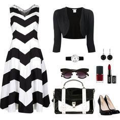 """""""Stylish in Black and White"""" by lmshull on Polyvore"""