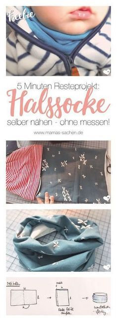 Sewing throat socks - free pattern and instructions - M Halssocke nähen – kostenlose Anleitung und Schnittmuster – Mamas Sachen Sew throat sock Baby Knitting Patterns, Free Knitting, Crochet Patterns, Blanket Patterns, Knitting Socks, Sewing For Kids, Baby Sewing, Free Sewing, Drops Design