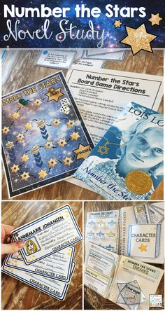 Newbery Winner: Number the Stars Novel Study - Interactive Notebook Style! Students love the board game that comes with it! 6th Grade Ela, 6th Grade Reading, Fourth Grade, 6th Grade Activities, Genre Activities, Number The Stars, Book Study, Readers Workshop, Teaching Reading