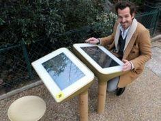 Dans le cadre du projet Mobilier Urbain Intelligent (MUI), la ville de Paris s'est offert un coup de jeune en se dotant d'un nouveau dispositif on ne peut plus high tech. Il s'agit d'une table de jeu tactile nommée « Play ». Dans le cadre du projet Mobilier Urbain Intelligent (MUI), la ville de Paris s'est offert un coup de jeune en se dotant d'un nouveau dispositif on ne peut plus high tech. Il s'agit d'une table de jeu tactile nommée « Play ».