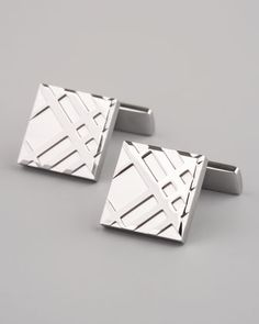 Embossed Check Cuff Links by Burberry at Neiman Marcus. 195