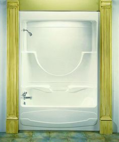the figaro onepiece tub u0026 shower combo very nice huh central