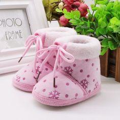 195a0e11437 2017 Ny spædbarn Toddler Baby Crib Sko Baby Girls Soft Soled Winter Snow Boots  Nyfødte Børn