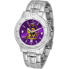 """East Carolina Pirates NCAA Anochrome """"Competitor"""" Mens Watch (Steel Band) by SunTime. $93.99. Color Coordinated. Calendar Date Function. Rotating Bezel. Showcase the hottest design in watches today! The functional rotating bezel is color-coordinated to compliment your favorite team logo. The Competitor Steel utilizes an attractive and secure stainless steel band. The AnoChrome dial option increases the visual impact of any watch with a stunning radial reflection simila..."""