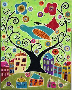 Great folk art paintings!