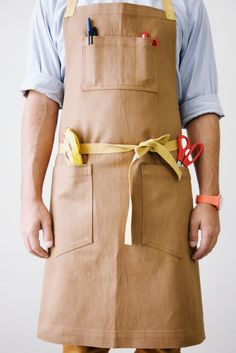 Chestnut Japanese Brown Denim Apron: Remodelista