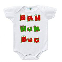 Snappy Suits Bah Hum Bug Christmas Vacation Ugly Sweater One Piece Baby Romper Suit Long Sleeve (0-3 Months, A) Short Sleeve