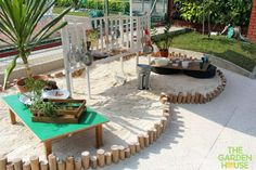 "Beautiful sandpit kitchen at The Garden House Preschool ("",)"