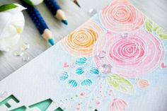 Simon Says Stamp | Watercolor cards with Watercolor pencils ...