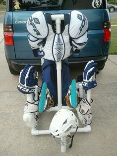 Hockey gear drying rack/ I will use this for football :)